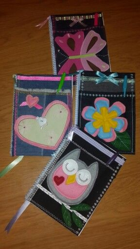 Great gifts for the girls from left over scraps some felt and ribbon...