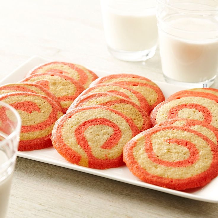 These #cookies, with a pink swirl of #peppermint flavored dough, are perfect for a #holiday cookie exchange. #recipe #baking