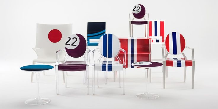 lapo elkann reinterprets kartell's furniture icons using car wrapping technology