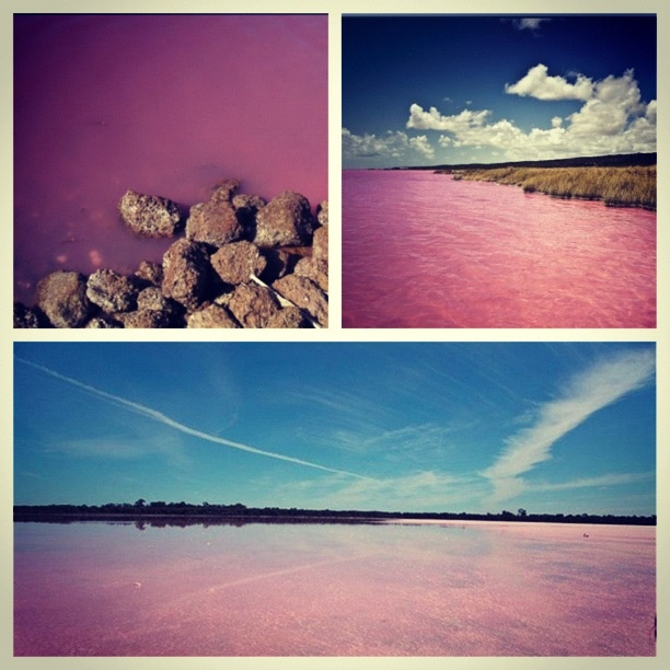Pink lake in Africa!! | !!0.o...This Is Real. ...Really ...