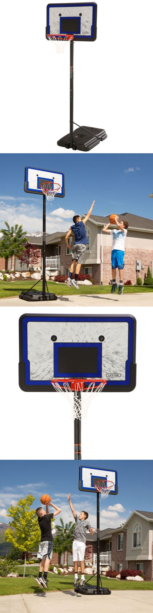Backboard Systems 21196: Lifetime 1221 Pro Court Height Adjustable Portable Basketball System, 44 Inch -> BUY IT NOW ONLY: $115.53 on eBay!