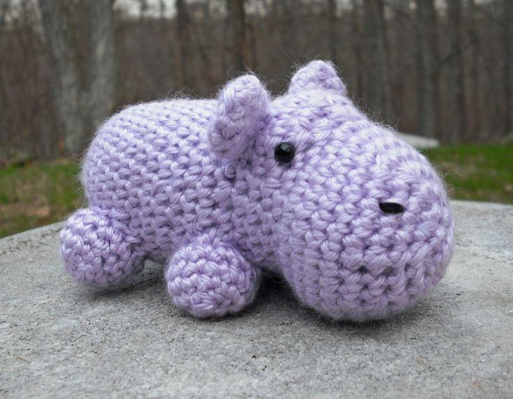 hippo - pattern from Leisure Arts #75266, Vannas Choice Easy Crochet ...