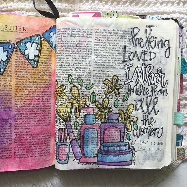 Bible Journaling by Trudy Barker @colorsoffaith | Esther