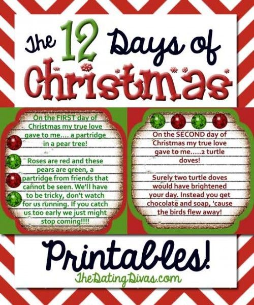 48 best 12 Days of Christmas images on Pinterest | Holiday ideas ...