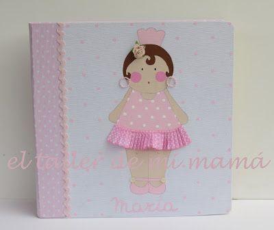 Álbum de fotos para niña, de la gitana en rosa