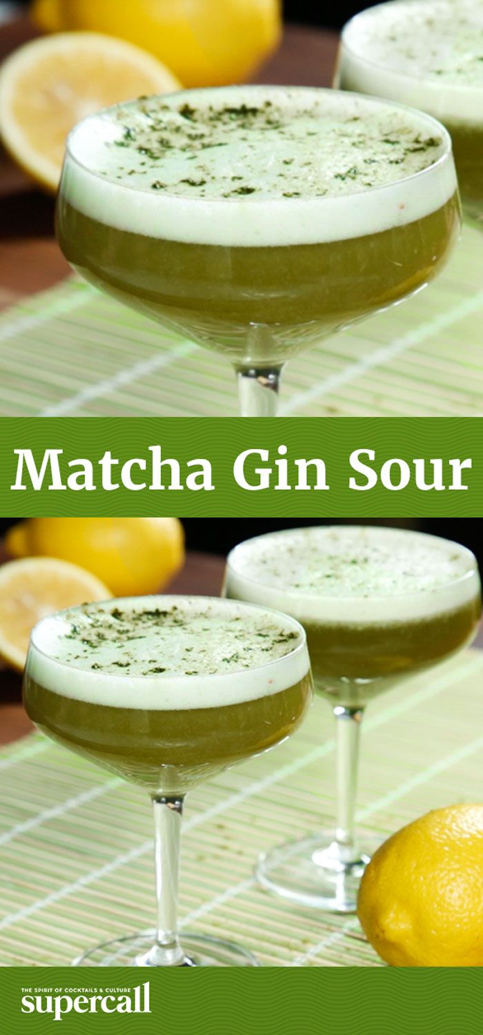 A frothy, lightly bitter take on a Southside, this green-hued sour gets its tannic twinge and vibrant color from a matcha tea syrup. Shaken egg whites give the drink its foamy head and silky texture, while an extra dusting of matcha powder on top completes the cocktail with a dry, appetite-inducing finish.