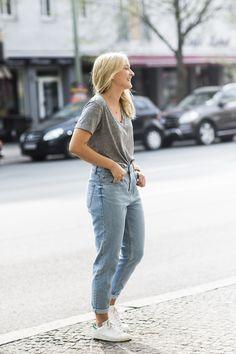 streetstyle, stan smith, boyfriend jeans, tee