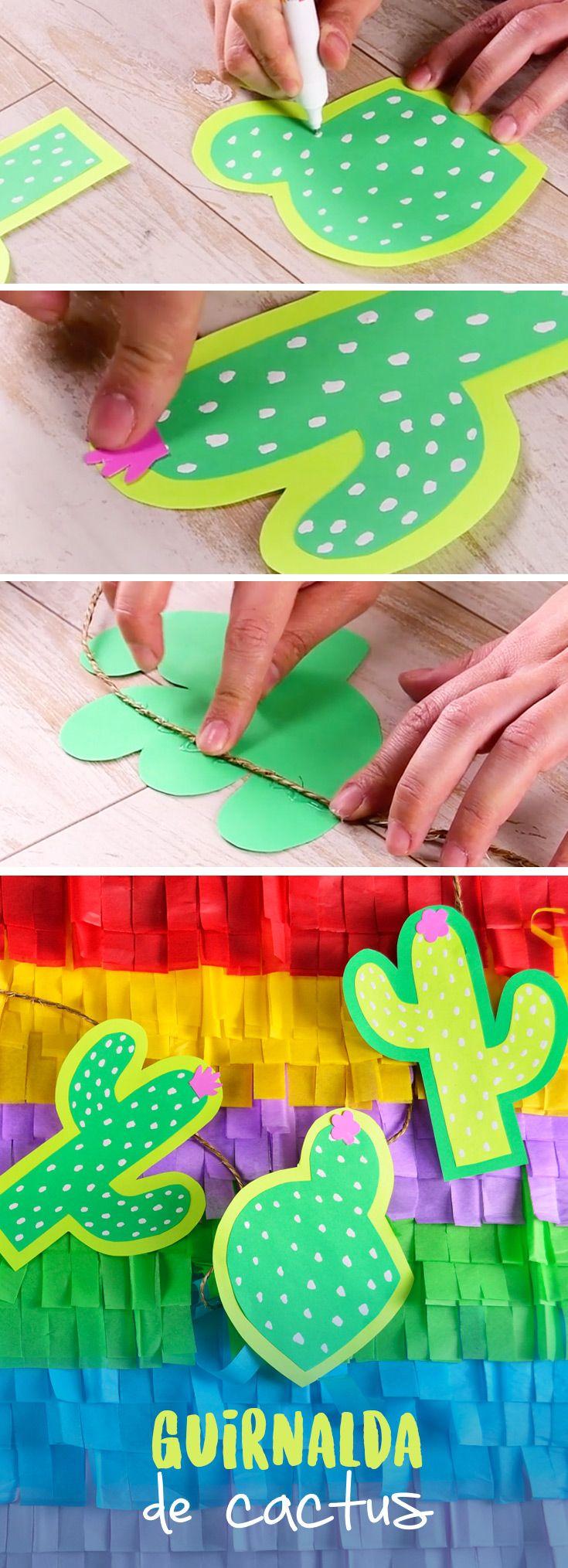 Decora tu próxima fiesta con esta guirnalda de cactus que hará que luzca espectacular. Te sorprenderán los resultados, es ideal para decorar cualquier espacio.