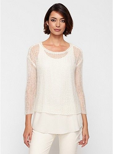 Eileen Fisher...oh so cozy mohair sweater