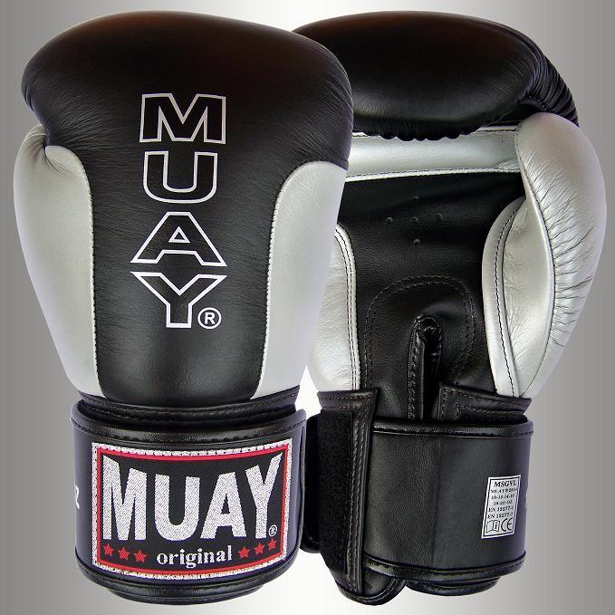 Muay® Premium Bokshandschoen Zwart/Zilver