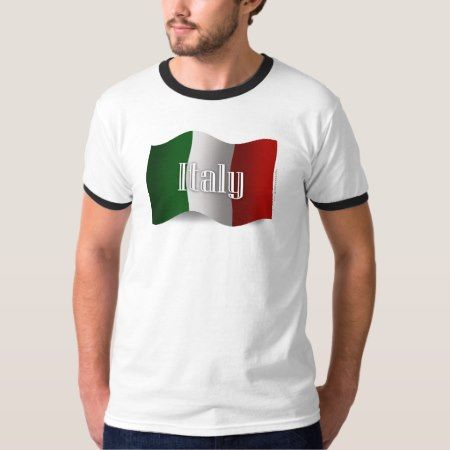 Italy Waving Flag T-Shirt - tap, personalize, buy right now!