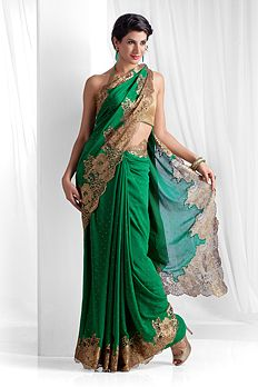 #KnowYourFabric: Georgette is a light-weight,crinkled sheer fabric. It is made with highly twisted yarns. Georgette looks the best with gown and sarees because of its flowy characteristic.