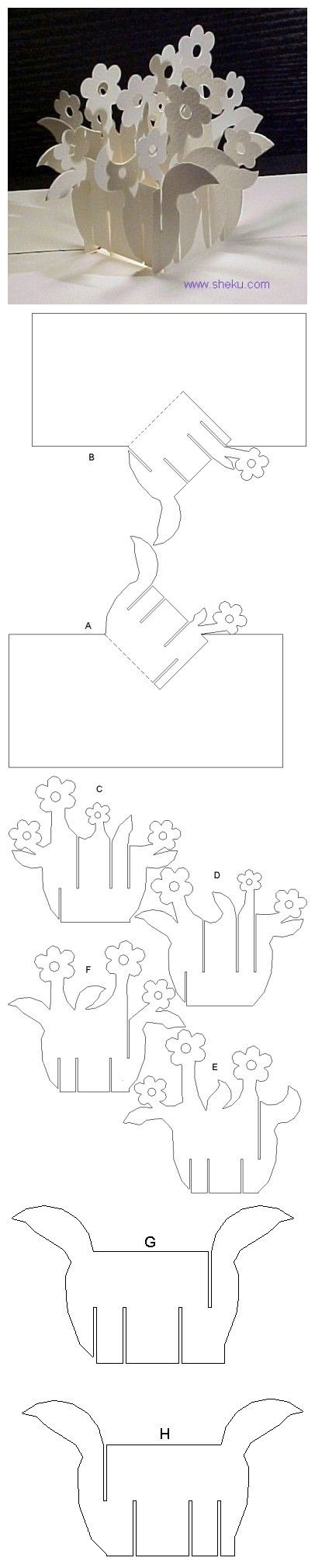 Flower basket template