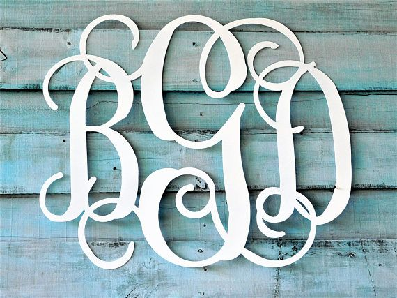 Monogram Door hanger, 3 Letter Monogram, Bedroom Decor, Wedding Gift, Wedding Guest Book, Nursery Decor, Wedding Guest Book, Wedding Decor,