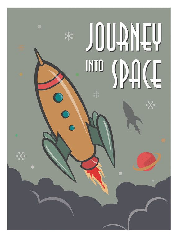 This Retro Rocket Print was inspired by 50s and 60s cartoon rocket illustration. This prints will easily fit into any childs room, nursery and also