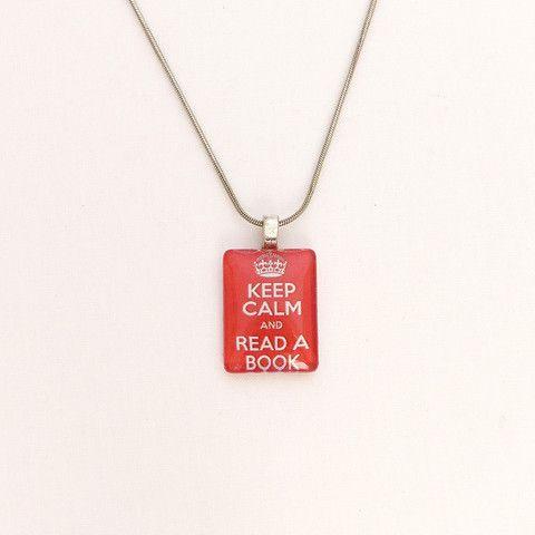 Read a book necklace