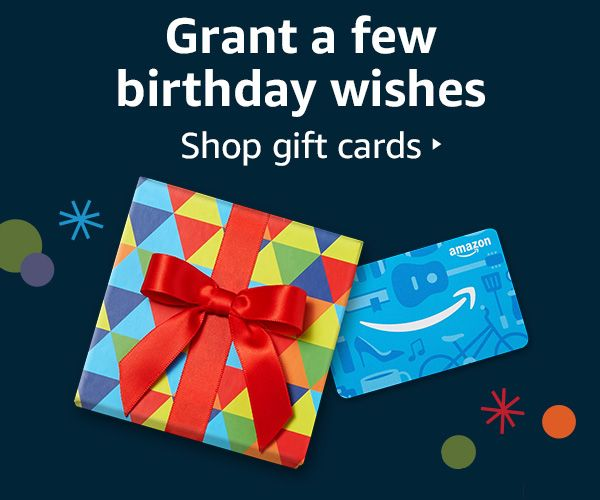 Amazon Com Online Shopping For Electronics Apparel Computers Books Dvds More Birthday Gift Cards Gift Card Birthday Gifts