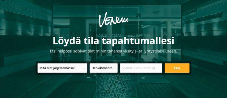 Etsi helposti sopivat tilat mihin tahansa yksityis- tai | Venuu.fi