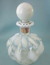 Vintage Fenton White Melon Perfume