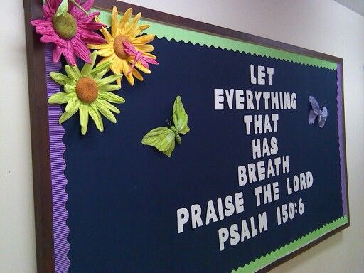 Christian Welcome Bulletin Board Ideas