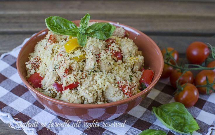 ricetta estate cous cous peperoni e pollo ricetta primo estivo freddo facile veloce