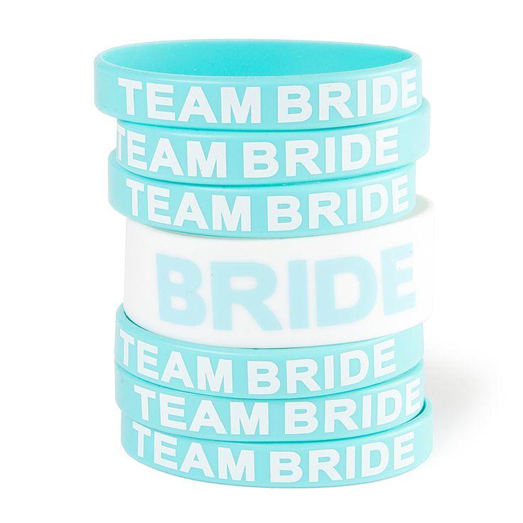 Team Bride Rubber Bracelets Set of 7- cool for the pool!!