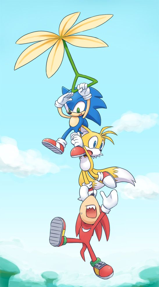 Don't let go, Knuckles! XD