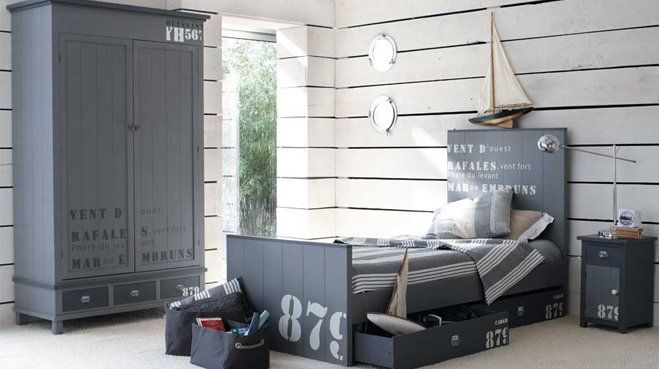 une chambre style bord de mer recherche d co et photos. Black Bedroom Furniture Sets. Home Design Ideas