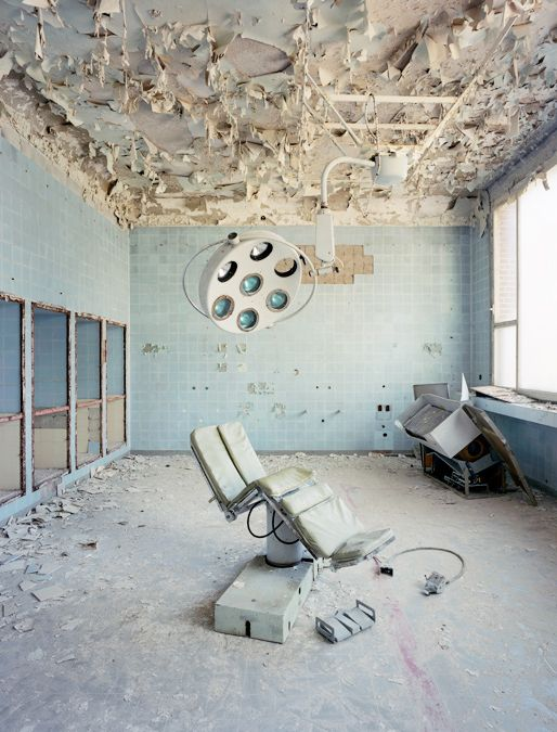 This hospital looks like knit could be the ruined Aptitude-Test from from Divergent