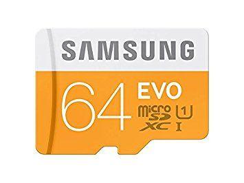16,50€ -  Samsung Evo MB-MP64DA/EU - Tarjeta de memoria micro SDXC de 64 GB (UHS -I Grade 1, Clase 10, con adaptador SD)