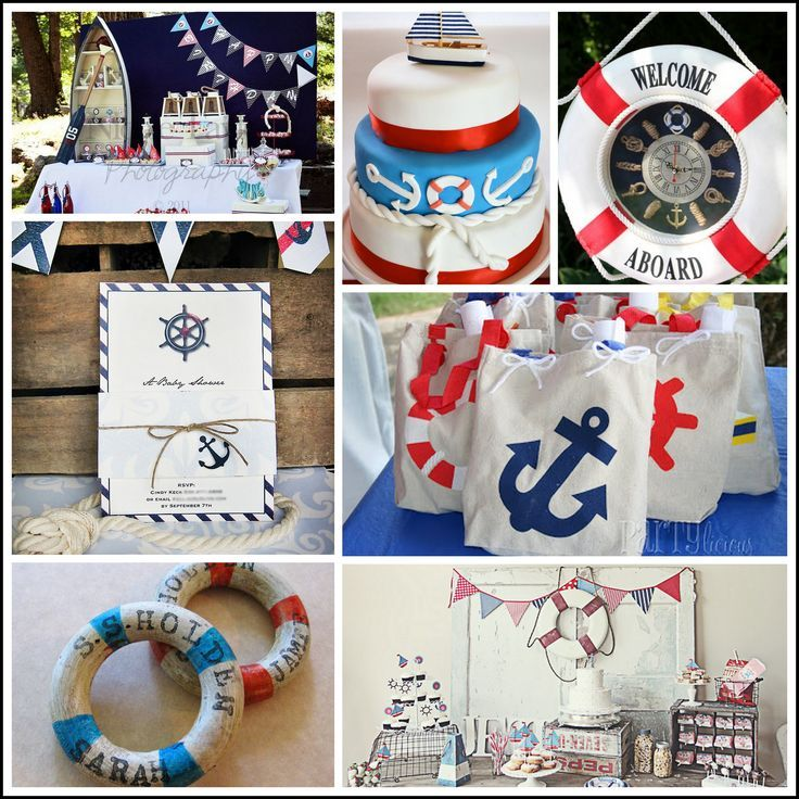nautical themed centerpieces | Nautical Themed Baby Shower Inspiration | Baby shower ideas