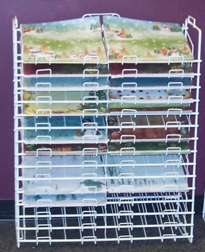 25 best scrapbook paper storage rack images on pinterest for Craft paper storage ideas