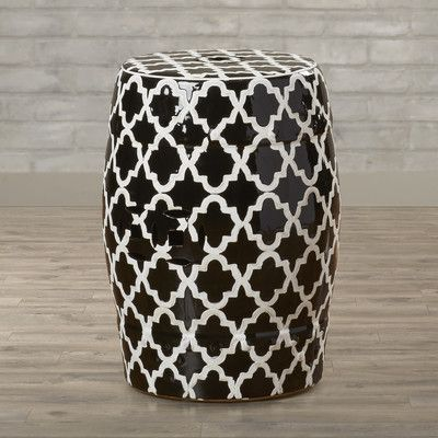 Varick Gallery Holgate Ceramic Garden Stool & Reviews | Wayfair
