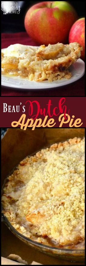 This Dutch Apple Pie is our favorite Fall pie. It is filled with tart apples and baked with a sweet and buttery crumb topping. via @favfamilyrecipz