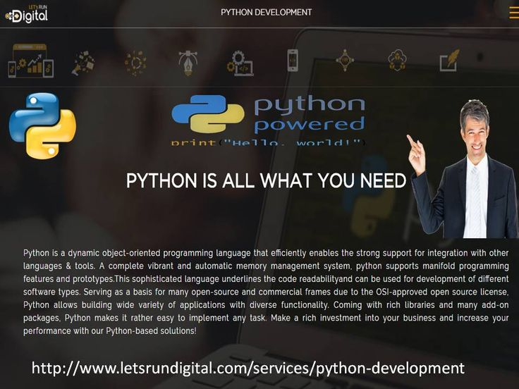 Python is a dynamic object-oriented programming language. It has automated memory management system this is the reason why to choose python.
