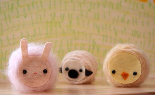 Spool Knitting animals   ... fantastic tutorial on how to make these cute yarn spool animals. Link