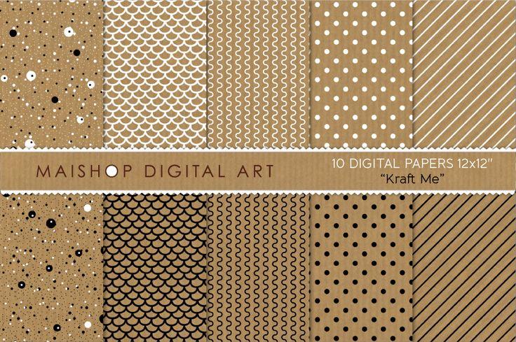 Digital Papers-Kraft Me