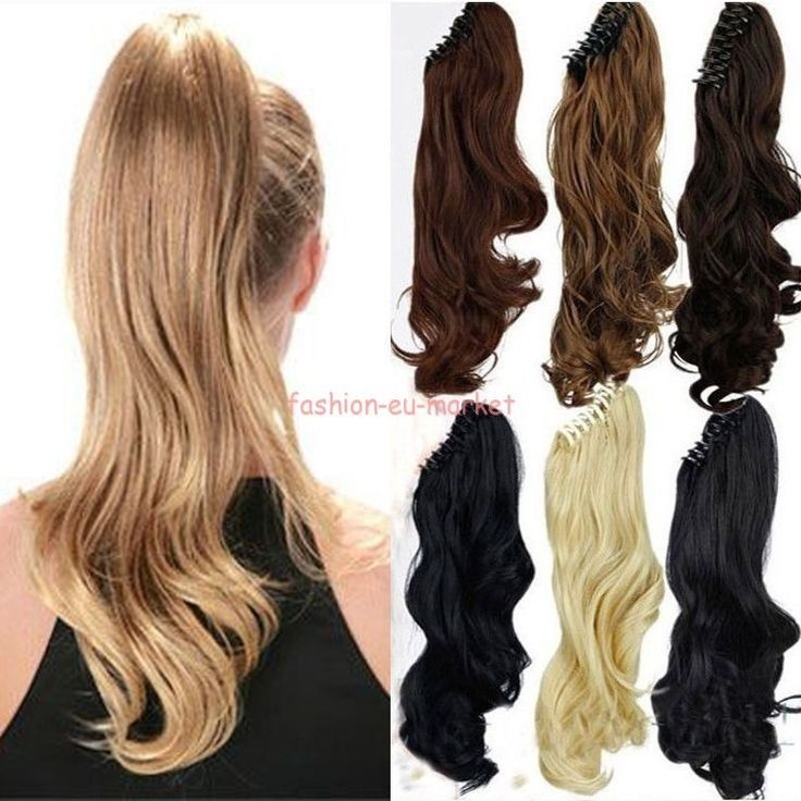 US Fast Long Claw Pony Tail Ponytail Clip in on Hair Extensions Party Hairpiece #Unbranded #Ponytail