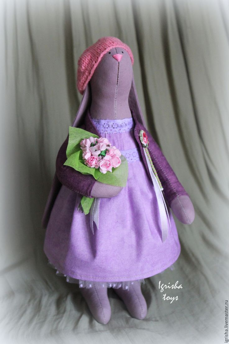 Купить Зайка Anabelle - интерьерная игрушка, интерьерная зайка, интереьрный заяц, заяц тильда, тильда