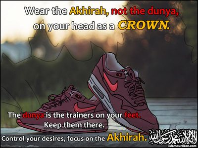 Wear your akhirah proudly on your head. Other Quotes Category of Islamic Quotes Pictures & Images - Islam Our Deen