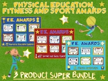 Physical Education, Fitness and Sport Awards- 3 Product Super Bundle