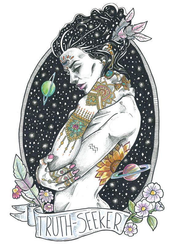The Mystics Truth Seeker by BirdBlackEmporium on Etsy