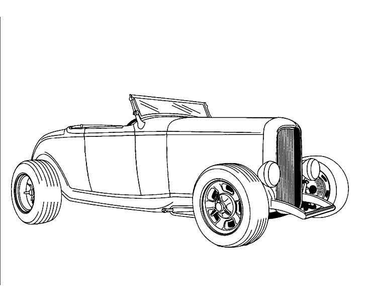 hot rod coloring pages - photo#13