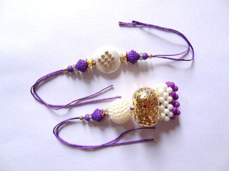 Auspicious Occasion Brother Sister Pearl Stone Design Rakhi Love Raksha Bandhan #IndianBrand #Friendship
