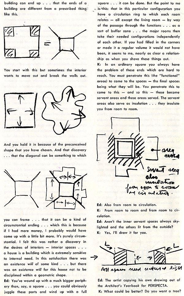 Louis Kahn. Perspecta 7 1961: 13 - RNDRD
