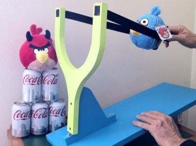 DIY angry birds slingshot omg. have to do this for zach!