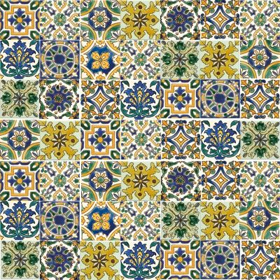 Faience artisanale: carrelage traditionnel-Patchwork TUNISIENNES   Carrelage traditionnel ...