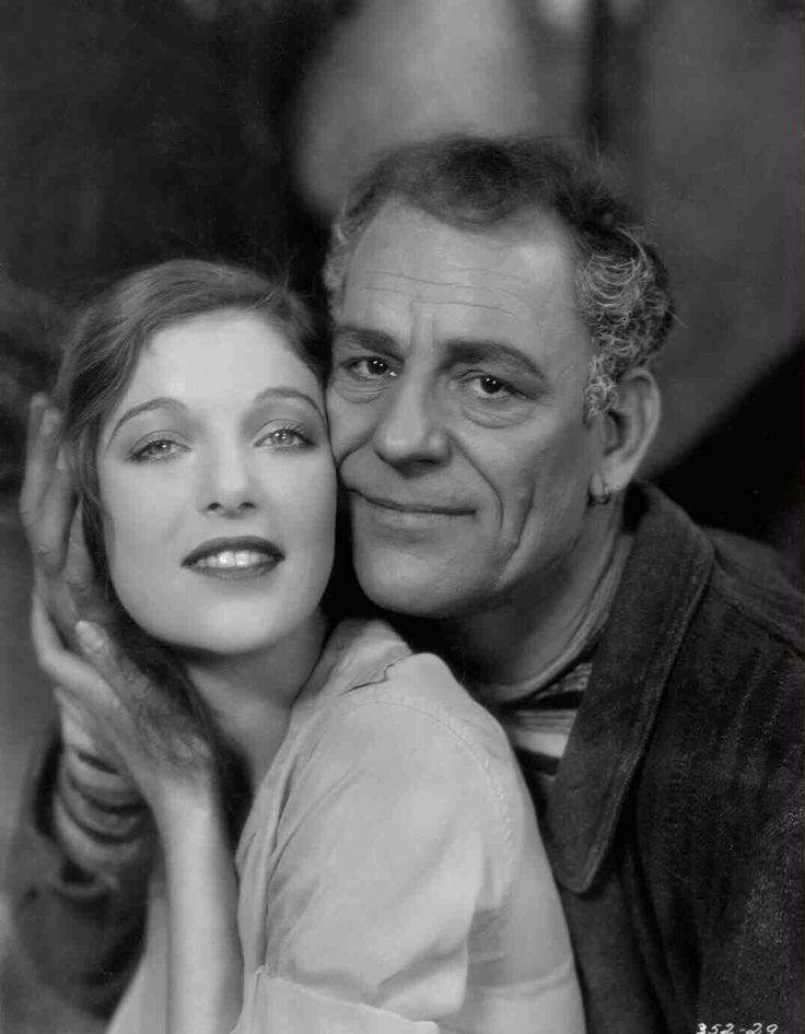 Publicity shot of Loretta Young as Simonetta and Lon Chaney as Tito Beppi for Laugh, Clown, Laugh