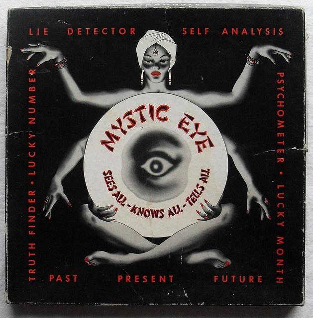 Mystic Eye Vintage 1953 Fortune Teller Game Box