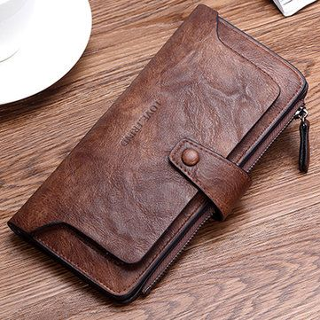 Leather Zip Around Wallet - Two Seaweed Mounds by VIDA VIDA